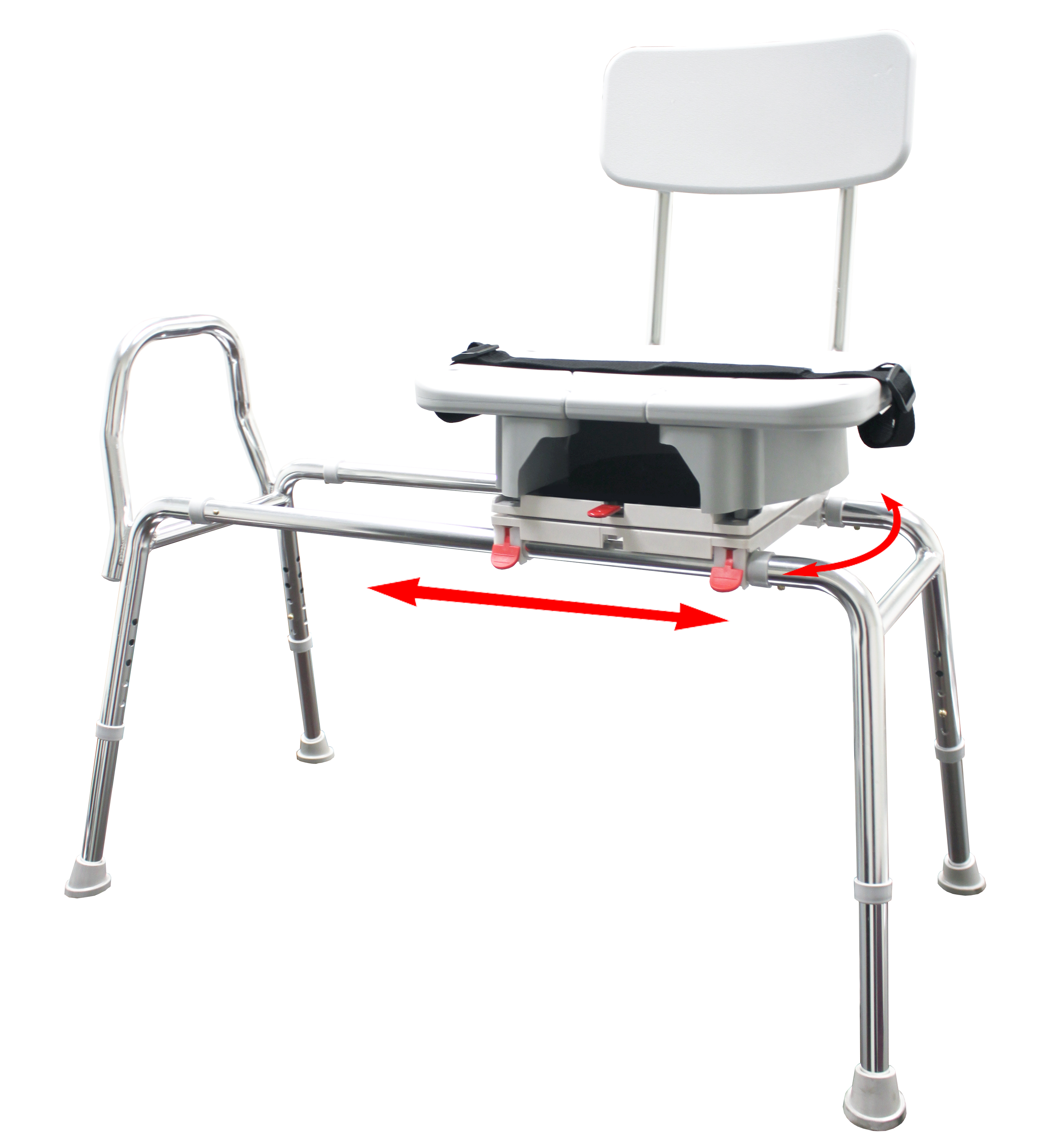Eagle Swivel Sliding Transfer Bench With Cut Out Seat
