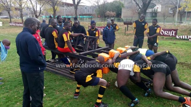 Rugby Cranes during camp in South Africa two weeks ago