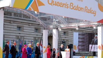 Image result for Queen's baton to arrive Nigeria on April 1