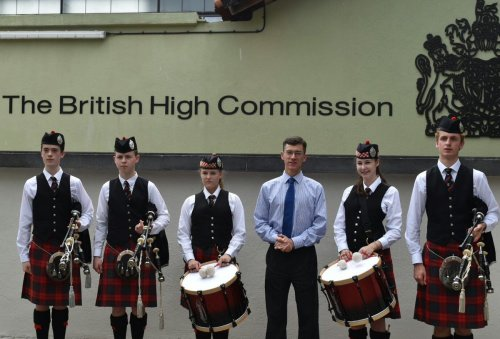 Traditional Scottish Pipers in Colombo