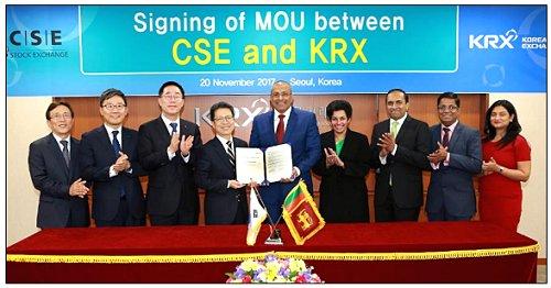Colombo Stock Exchange and Korea Exchange agree to pursue mutual development