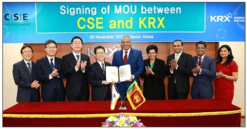 Colombo Stock Exchange and Korea Exchange agree to pursue mutual development