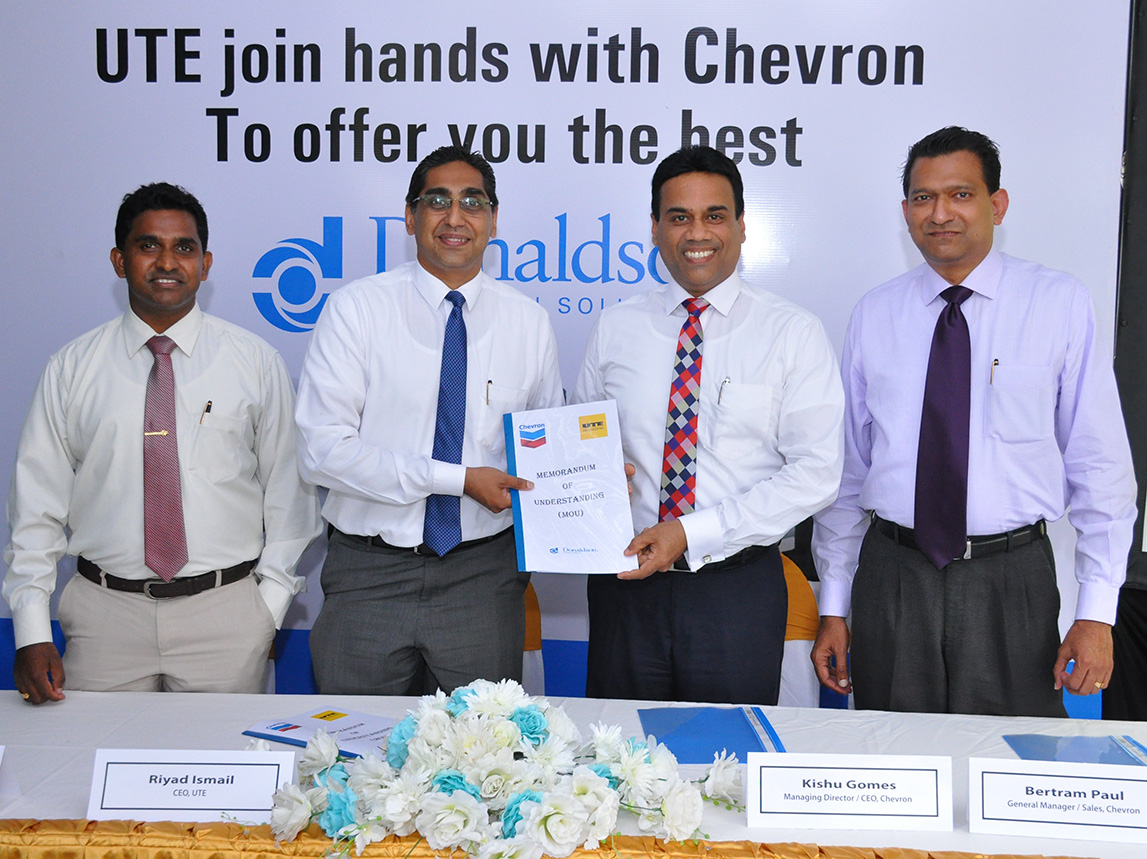 Chevron Lubricants partners with UTE Engineering to offer high quality Donaldson filtration solutions