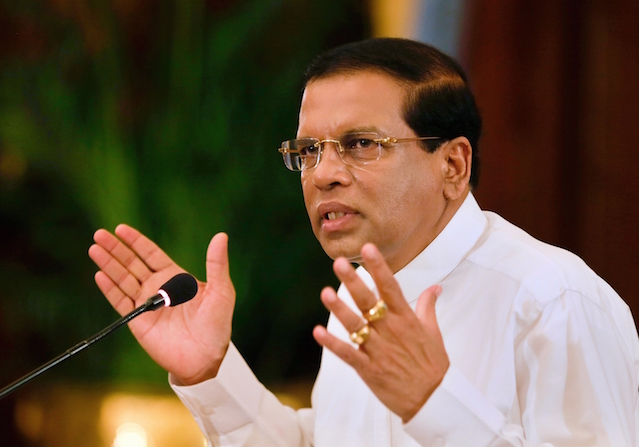 Sri Lankan President seeks public support to clean up the country of malpractices