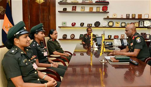 The first two female Sri Lankan Army officers leave to serve as UN military observers