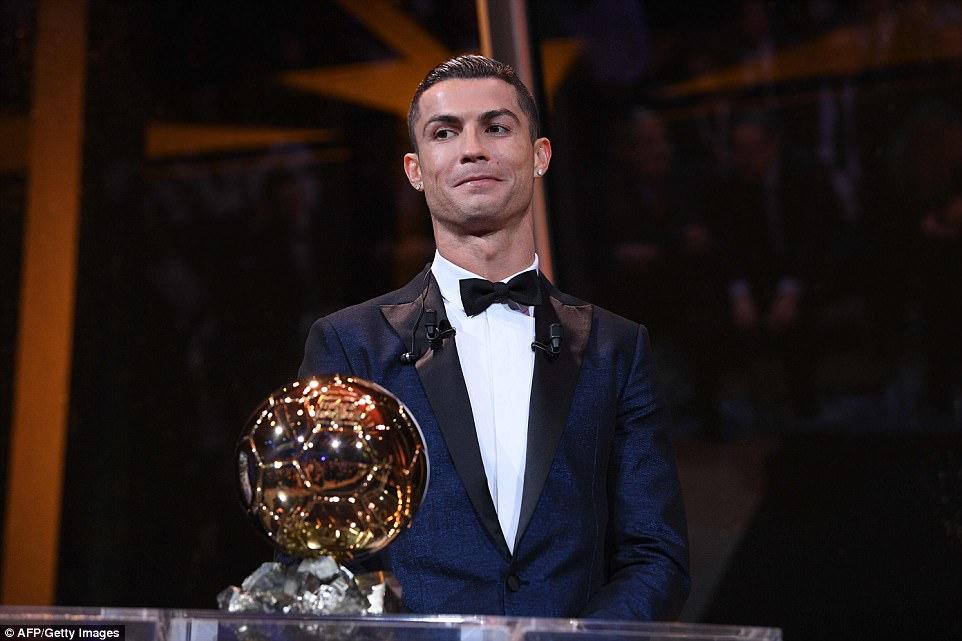 Football: Real Madrid, Cristiano Ronaldo wins Ballon d'Or award for the fifth time