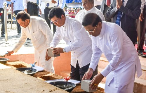 Sri Lanka President inaugurates construction of largest kidney hospital in Asia with Chinese aid