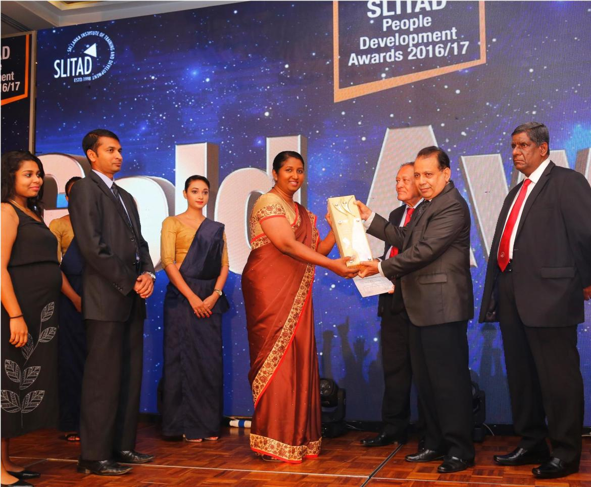 CDB wins again with Gold at SLITAD People Development Awards