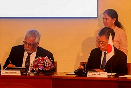 Japan grants an Audio-Visual Studio to the Department of Mass Media at Sri Palee Campus of University of Colombo