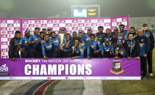 Sri Lanka beat Bangladesh by 79 runs to lift Tri Nation Trophy