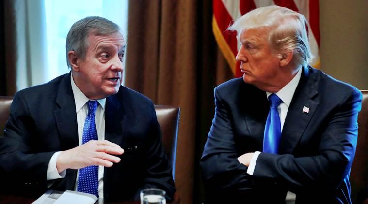 Donald Trump takes on Dick Durbin over 'racial slur'