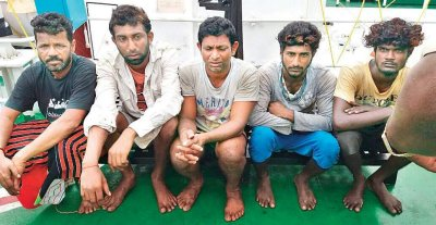 Indian Coast Guard arrests five Sri Lankan fishermen for poaching
