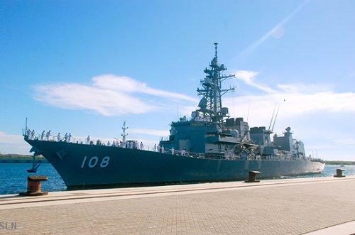 Japanese naval ship Akebono arrives at Sri Lanka's Port of Hambantota