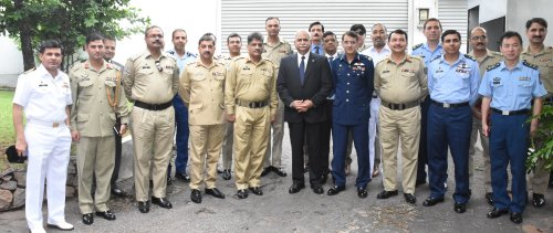 Pakistan's National Defense University delegation visiting Sri Lanka