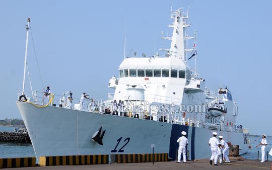 Indian Coast Guard Ship ICGS Shoor in Sri Lanka on a goodwill visit