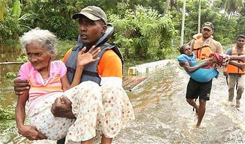 Sri Lanka Navy steps up relief operations in flood-affected areas, rescues 172 marooned flood victims