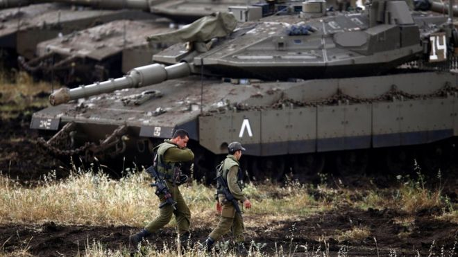 'Iranian forces' fire rockets at Israeli positions in Golan Heights