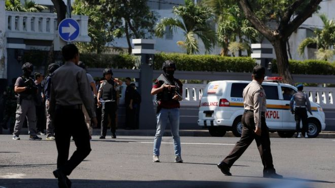 Surabaya: Suicide bombers attack Indonesia police headquarters