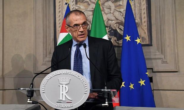 Italian president names interim prime minister until fresh elections