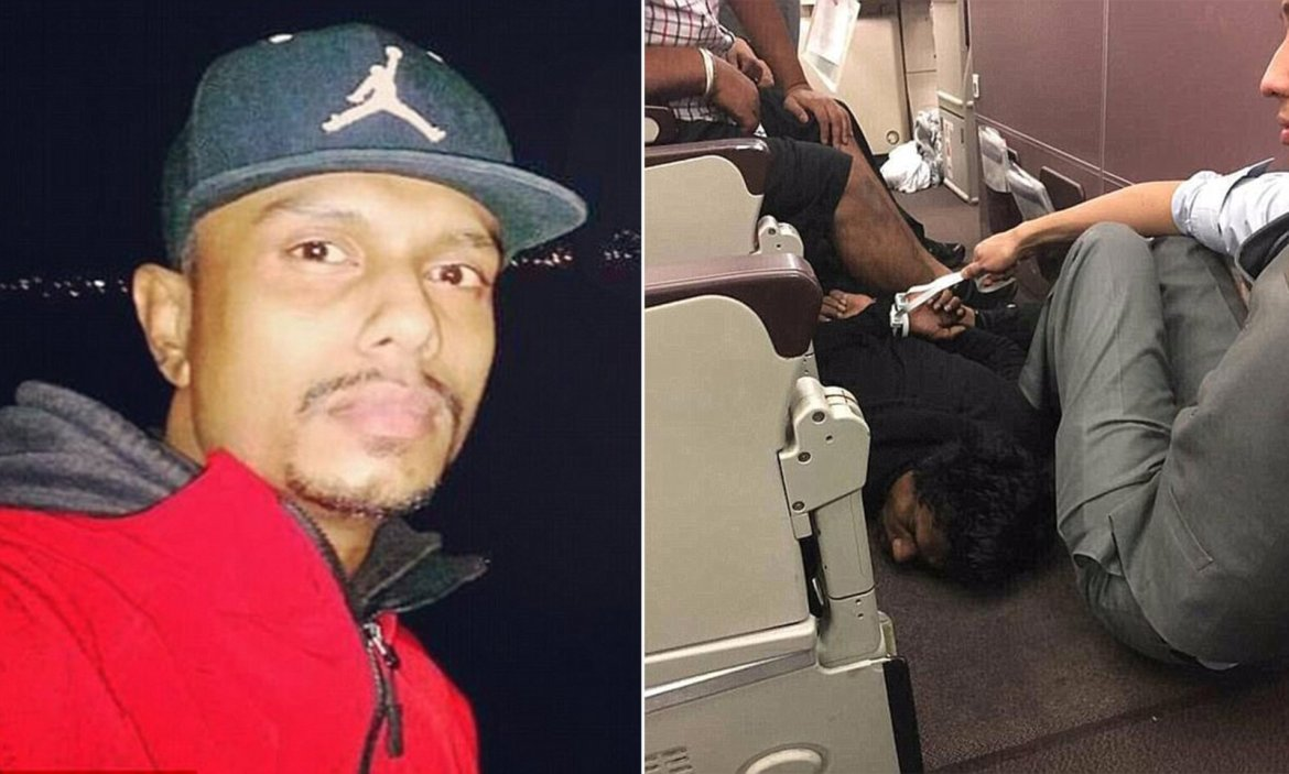 Sri Lankan man who terrorized Malaysian Air flight from Melbourne with fake bomb jailed for 12 years