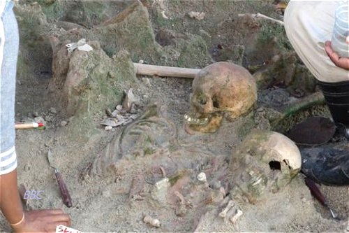 Mass grave in Mannar in Northern Sri Lanka unearths 62 human skeletons