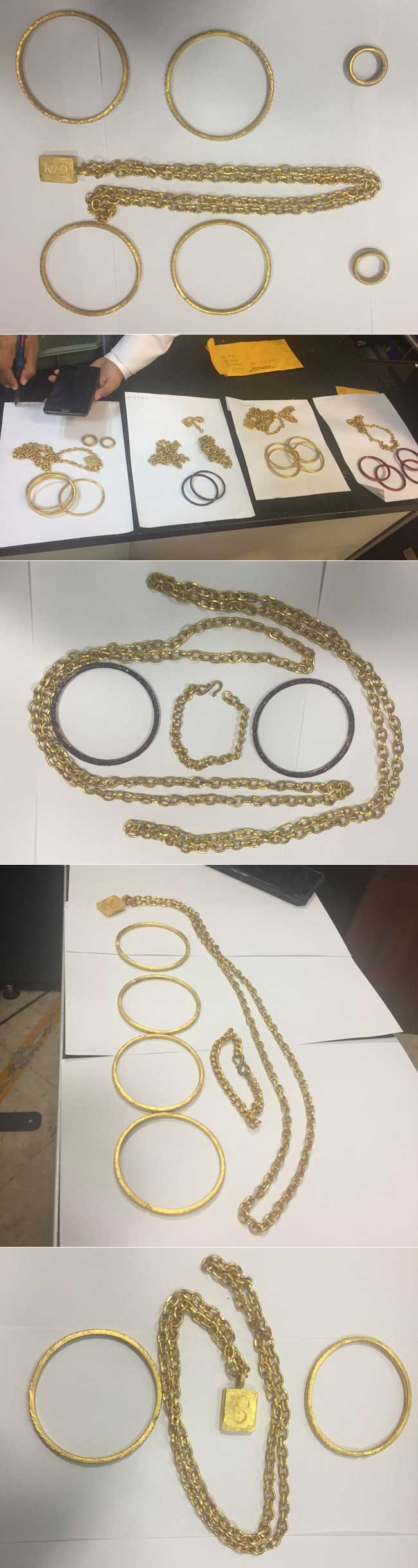 Four women nabbed with gold jewellery worth nearly Rs 10 million