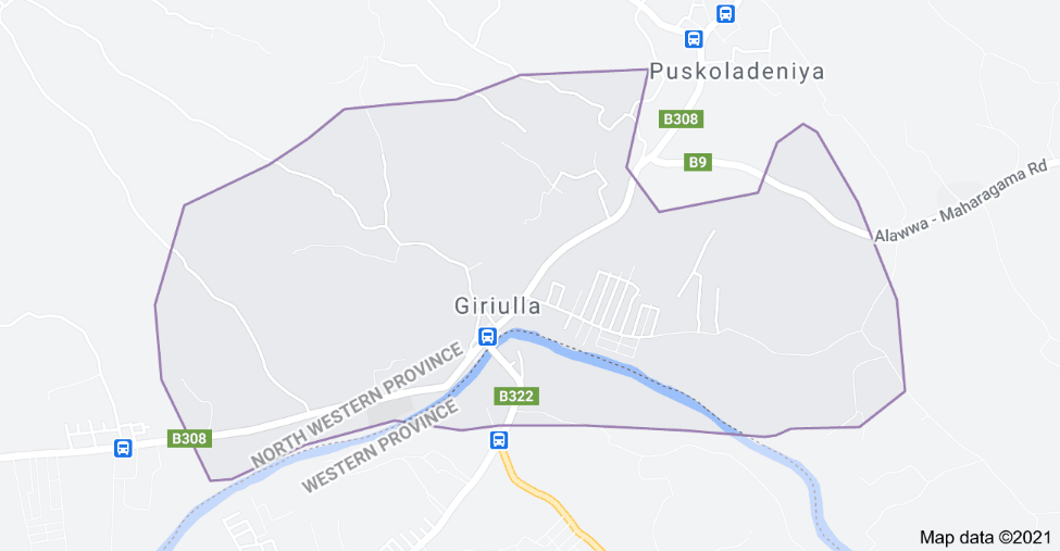Areas in Giriulla & Pujapitiya isolated with immediate effect