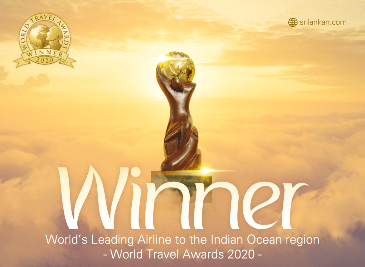 SriLankan Airlines named the 'World's Leading Airline to the Indian Ocean' at WTA