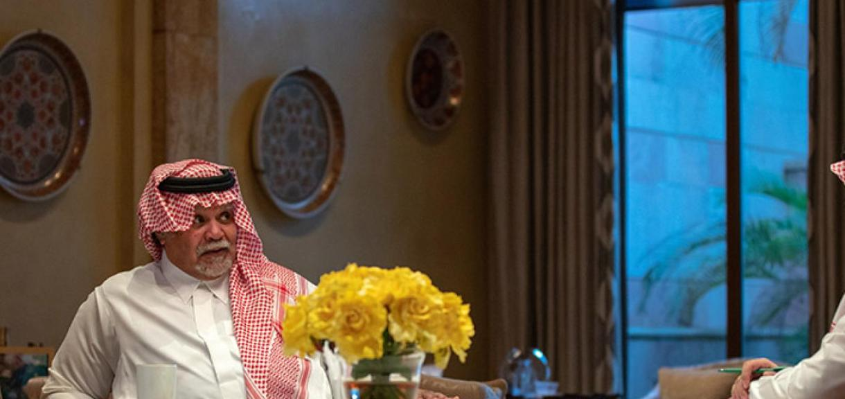 الأمير بندر أثناء الحوار