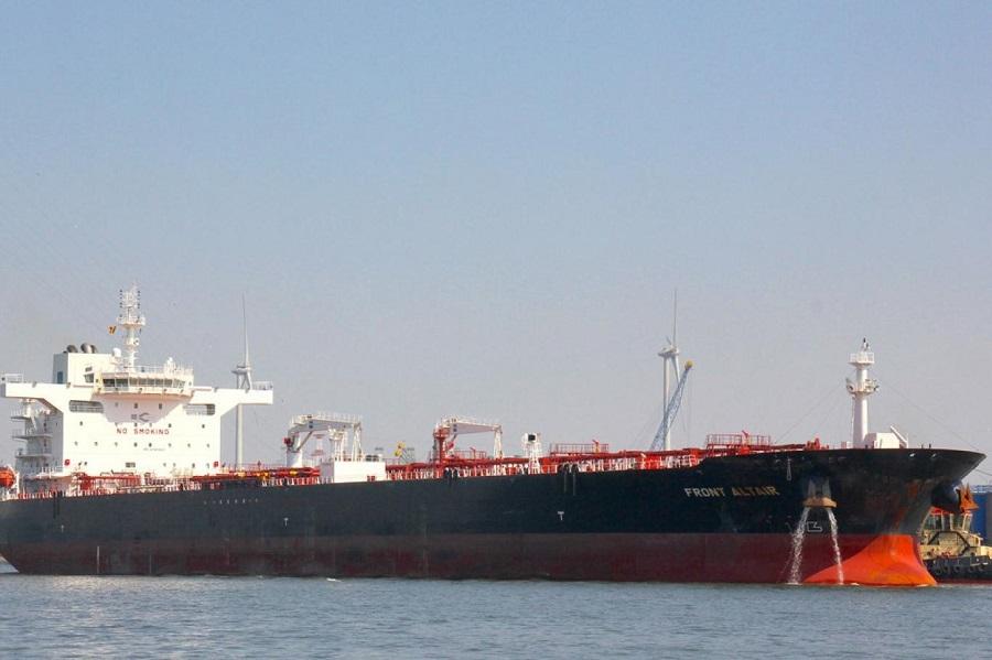 الناقلة فرونت التير التي أصيبت في بحر عمان (موقع شيبفارت وست).jpg