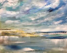 Alexandra Von Burg, Riflessi di un'anima, pittura acrilica, 80x100, 2019