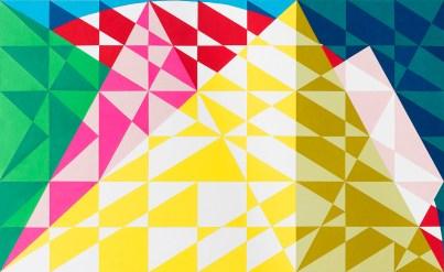 Davide Genna, Paesaggio Mediterraneo - 2016 intarsi di carta su tavola 100 x 60