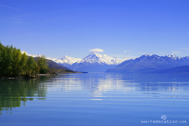 Mount Cook and Lake Pukaki, freedom camping