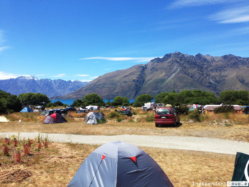 7 Odd Things Which Make New Zealand Super Interesting, Campsite in Queenstown, travel New Zealand, travel blog New Zealand, tent camping NZ, freedom camping New Zealand, New Zealand travel guide, why to visit New Zealand, what to see in New Zealand, weird things about New Zealand,