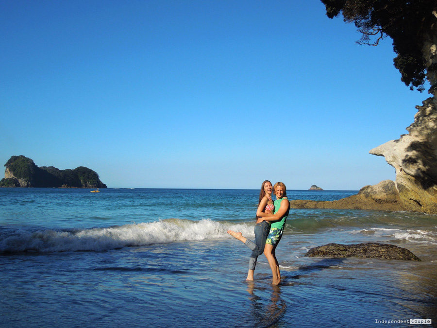 Couple at Cathedral Cove