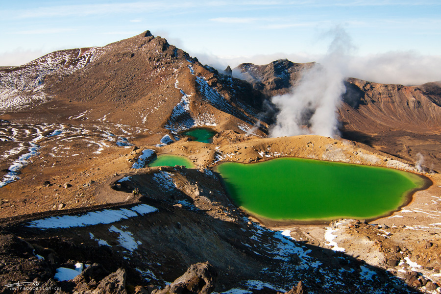 Emerald Lakes, Tongariro National Park, Travel, New Zealand