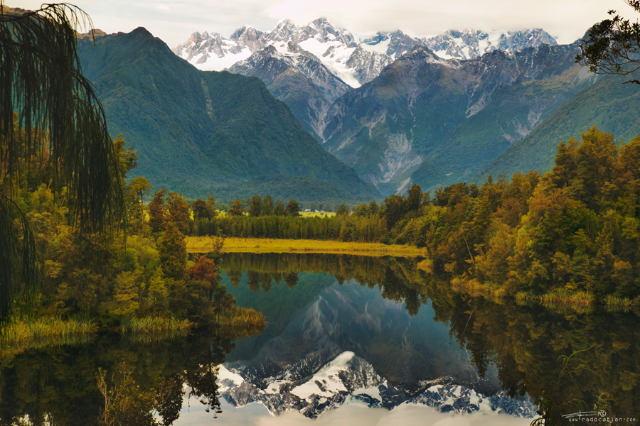 Lake Matheson, West Coast, New Zealand, travel, nature,