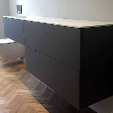 Bespoke Krion and Fenix vanity