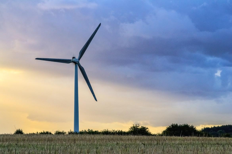 Denmark wind turbine countryside