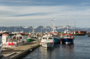 independent people iceland scenery harbour boat fishing mountains