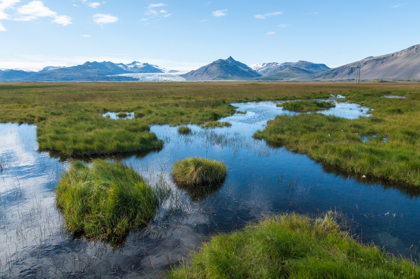 Mountains and lakes of Iceland