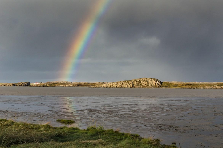Rainbow cliff, Iceland