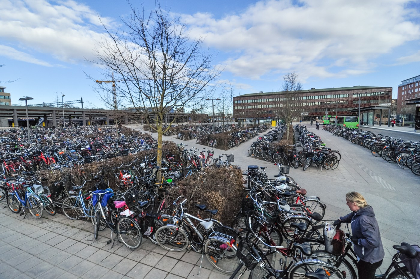 Bicycle parking in Sweden