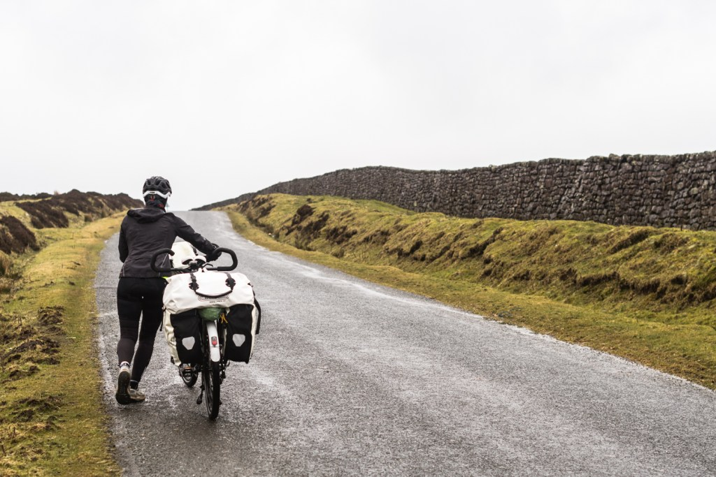 Cycling in Yorkshire Moors, England