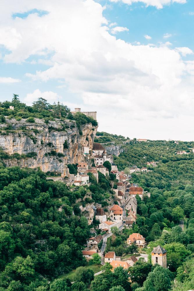 occitanie lot rocamadour village from above sanctuary