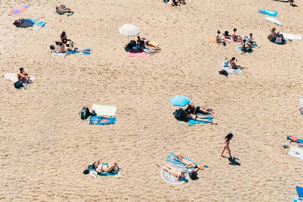 aquitaine biarritz beach summer sun tanning