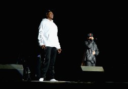 PHILADELPHIA, PA - SEPTEMBER 03:  Jay Z and Damian Marley perform onstage during the 2017 Budweiser Made in America festival - Day 2 at Benjamin Franklin Parkway on September 3, 2017 in Philadelphia, Pennsylvania.  (Photo by Kevin Mazur/Getty Images for Anheuser-Busch)