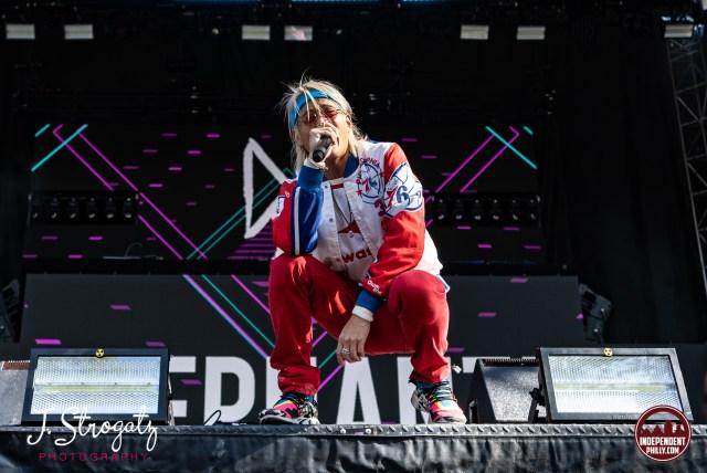 Electronic Music artist Elephante at Made In America Festival photo by Jen Strogatz