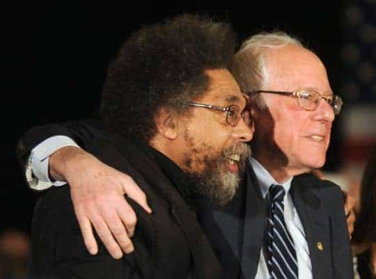 Bernie Sanders with revolutionary Cornel West