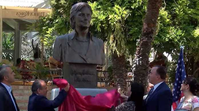 Hillary bust